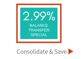 Special rate of 2.99 percent APR for credit card balance transfers. Click to learn more about the special offer.