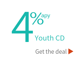 Youth CD Special at 4 percent. Click for details.