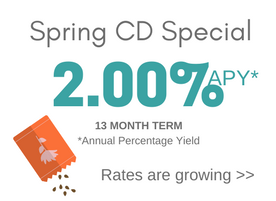 Spring CD Specials two percent APY